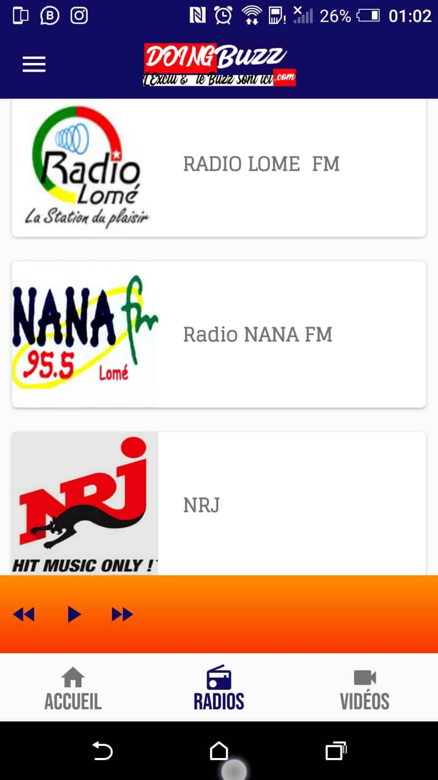Télécharger l'application mobile Doingbuzz !!