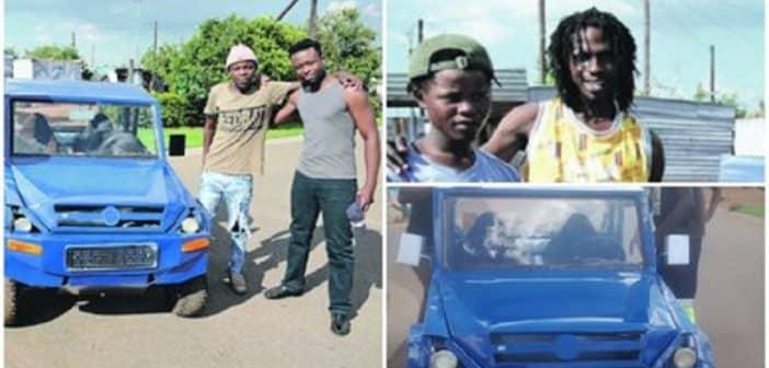 Afrique du Sud 4 frères construisent leur propre voiture malgré la pauvreté