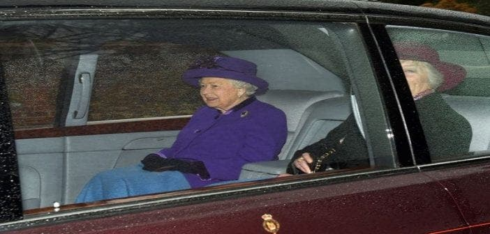 La Reine Elizabeth II en deuil