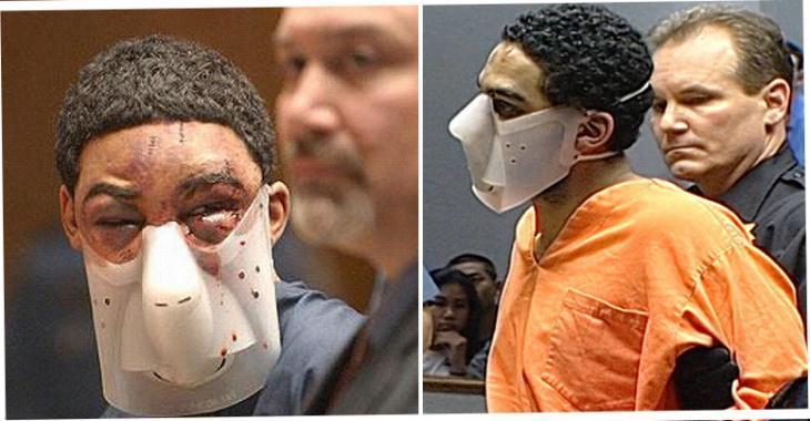 Après avoir tué un policier, un criminel se présente devant le juge. Son visage choque tous les gens présents.