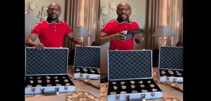 Floyd Mayweather présente son impressionnante collection de montres