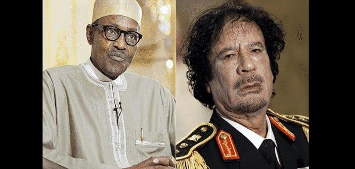Insécurité au Nigeria : Le président Buhari accuse Mouammar Kadhafi