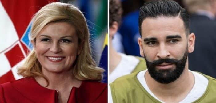 Mondial 2018: Le gros dérapage d'Adil Rami face à la présidente de la Croatie révélé-VIDEO