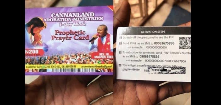 NigeriaDes cartes de souscription pour la prière prophétique désormais en vente