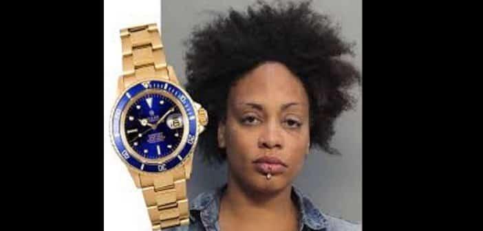 USA une femme arrêtée avec 4 montres Rolex cachées dans son