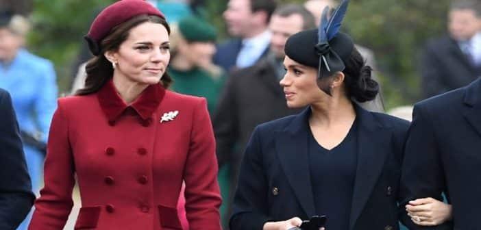 """Voici pourquoi Kate Middleton s'est sentie """"menacée"""" par Meghan Markle"""