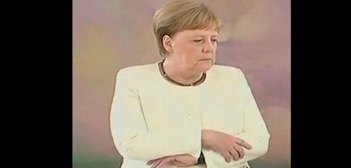 Angela Merkel victime une nouvelle fois d'une crise de tremblements (Vidéo)