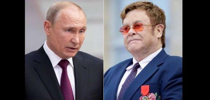 """Elton John s'en prend à Poutine et le qualifie d""""'hypocrite"""""""