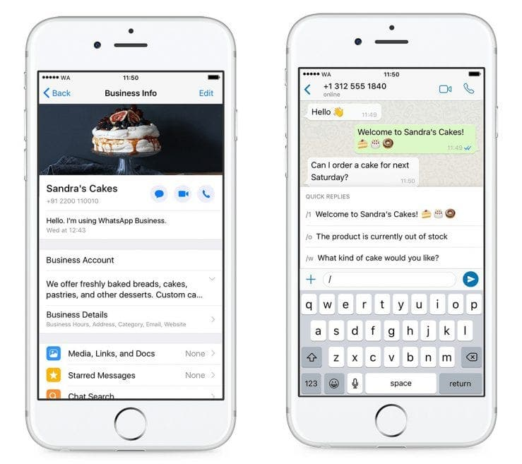WhatsApp Business est maintenant disponible sur iPhone,ios