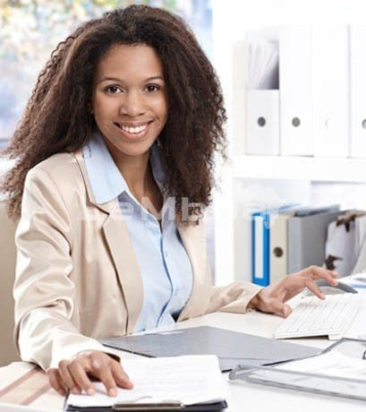 Portrait Of Beautiful Smiling Office Worker