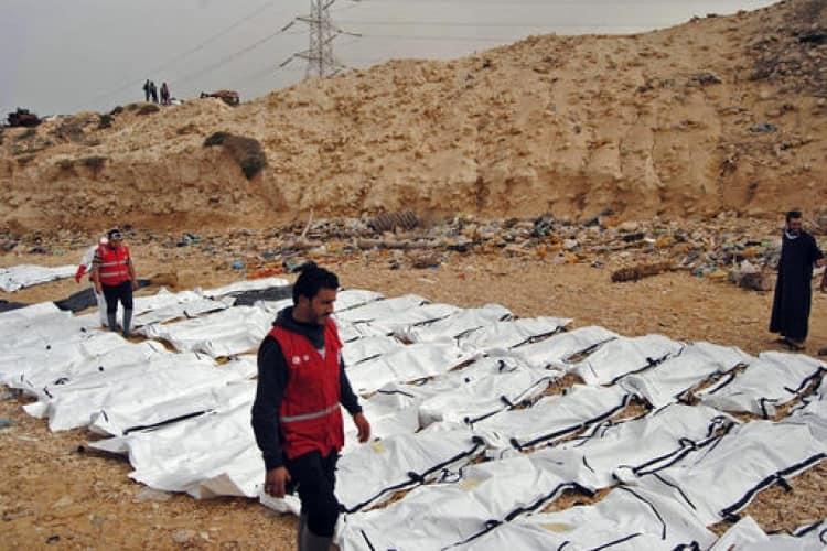 Les corps des migrants africains morts retrouvés au large des côtés libyennes