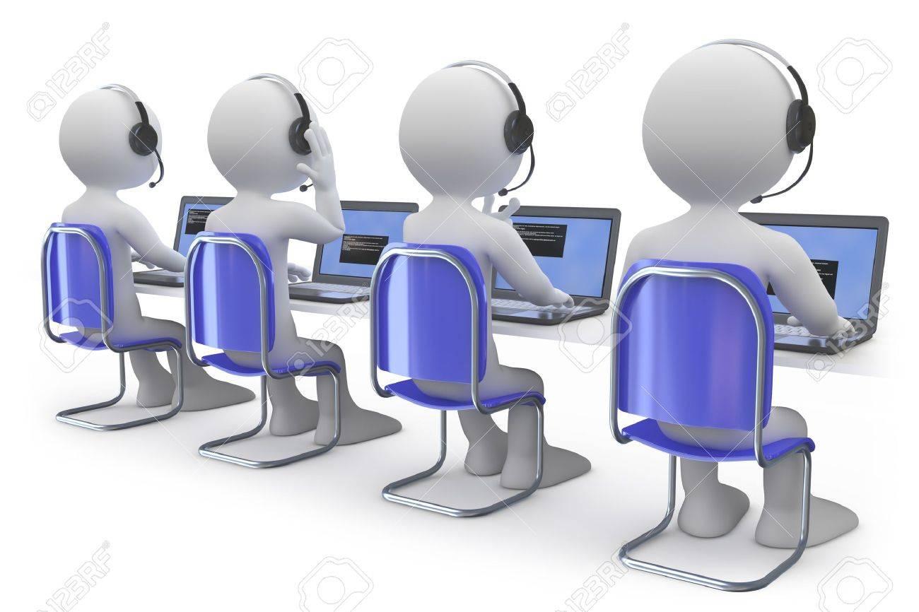 9779804 Les Employés Travaillant Dans Un Centre D Appel