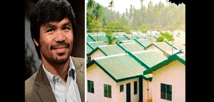 Boxe : Manny Pacquiao sollicite des fonds pour construire des logements pour les pauvres (vidéo)