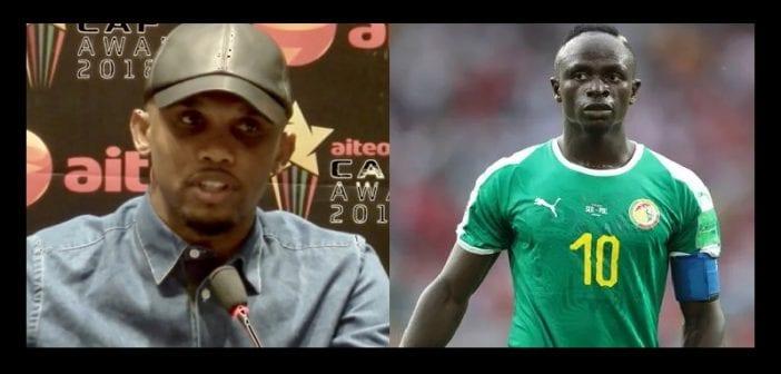 CAN 2019: Le coup de Gueule d'Eto'o sur Sadio Mané (Vidéo)