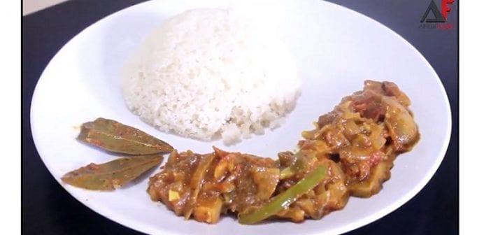 Cuisine: Ragoût de viande et lardons au curry, pour 6 personnes – Vidéo