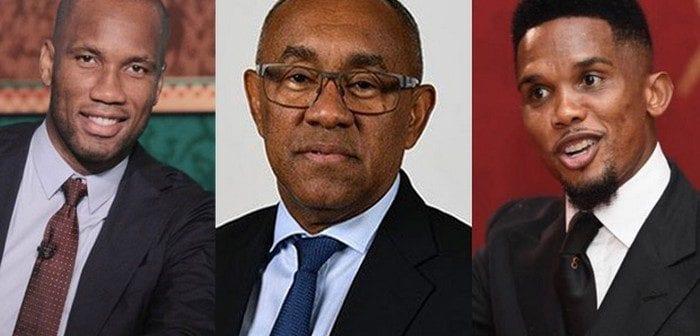 Football,samuel Etoo Et Didier Drogba ,collaborateurs Officiels,président,caf