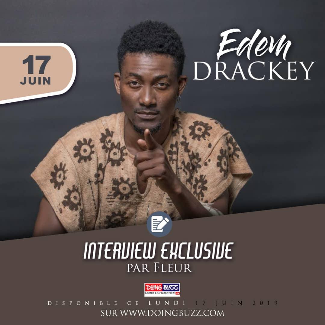 Le chanteur togolais Edem Drackey répond aux questions de Fleur