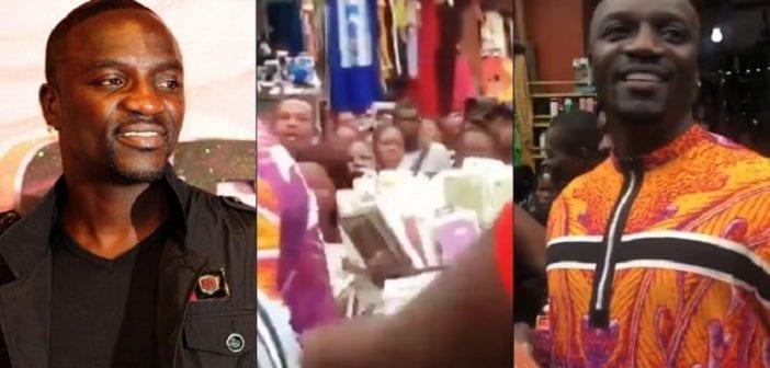 Nigeria, Akon ,assailli, Foule Excitée ,marché ,vidéo