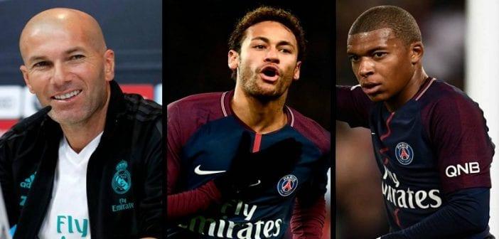 Réal Madrid: Zidane se prononce sur les cas Neymar et Mbappé