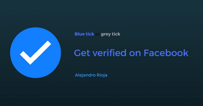 Vérifier sur Facebook: page ou profil (badge de vérification bleu + gris)