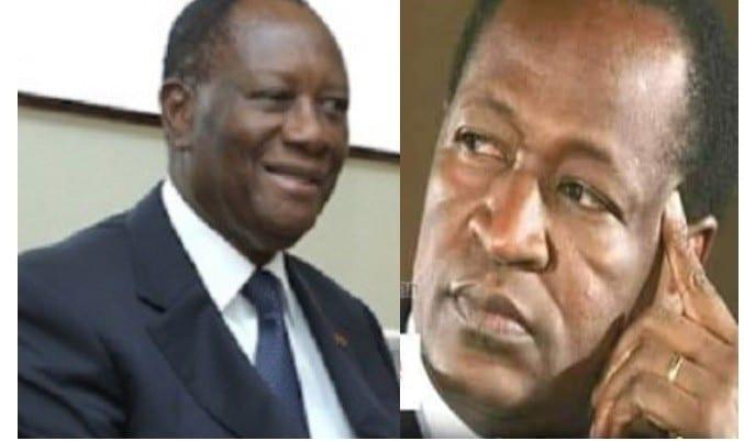 Les choses tournent mal entre Alassane Ouattara et Blaise Compaoré