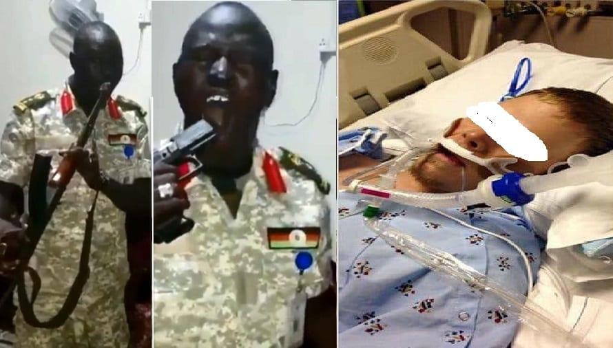 Essayant d'imiter un colonel sud soudanais en se tirant les balles dans la bouche, un expert en balistique américain se retrouve à l'hôpital