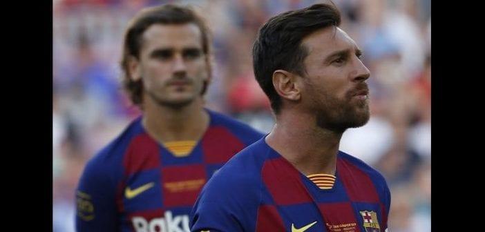Barça,tension , Messi Et Griezmann, La Pulga, Refuse De Saluer, Français