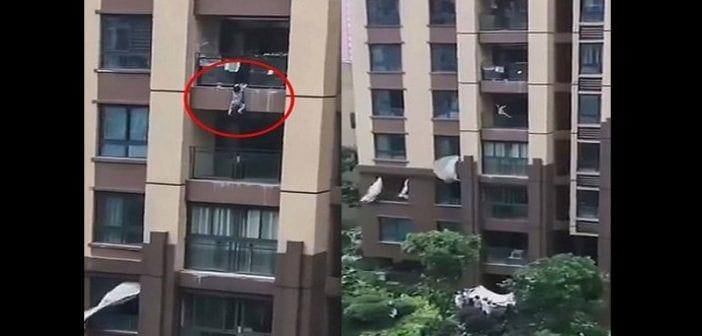 Chine,un Enfant De 3 Ans ,tombe Du 6e étage , Appartement ,vidéo