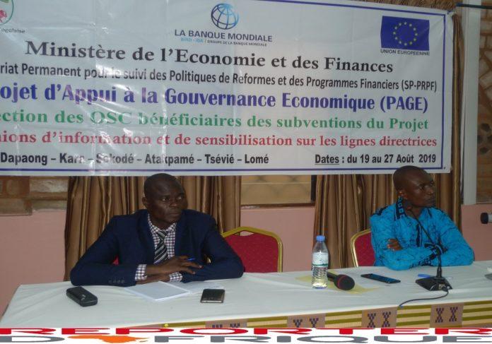 Togo/ Économie: Les coordinateurs du PAGE se réunissent à Lomé