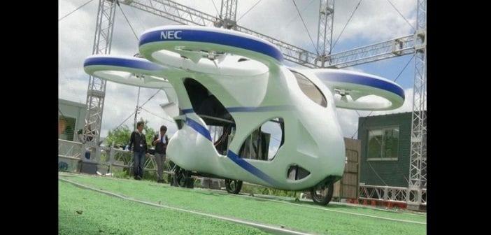 Le Japon teste avec succès sa première voiture volante (vidéo)