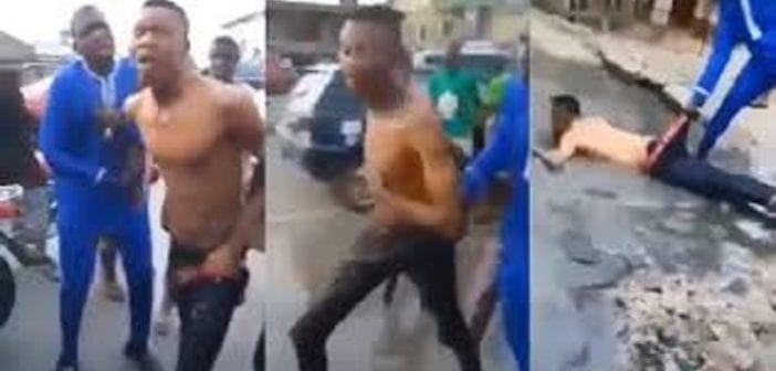 """Nigeria: un """"brouteur"""" serait devenu fou après avoir refusé de livrer sa mère pour un rituel (vidéo)"""
