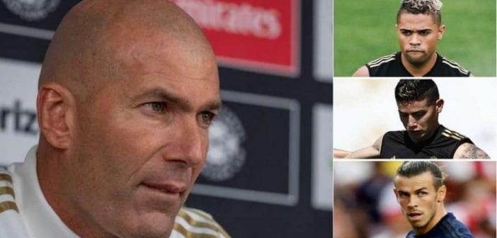 Réal Madrid,Zidane, Envoie Un Message Clair, Bale, James Rodriguez, Mariano Diaz