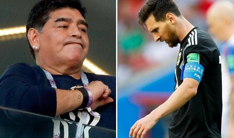 L'émouvant message de Messi après la mort de Maradona