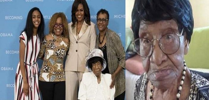 USA: Michelle Obama rencontre la petite-fille d'un esclave âgée de 111 ans