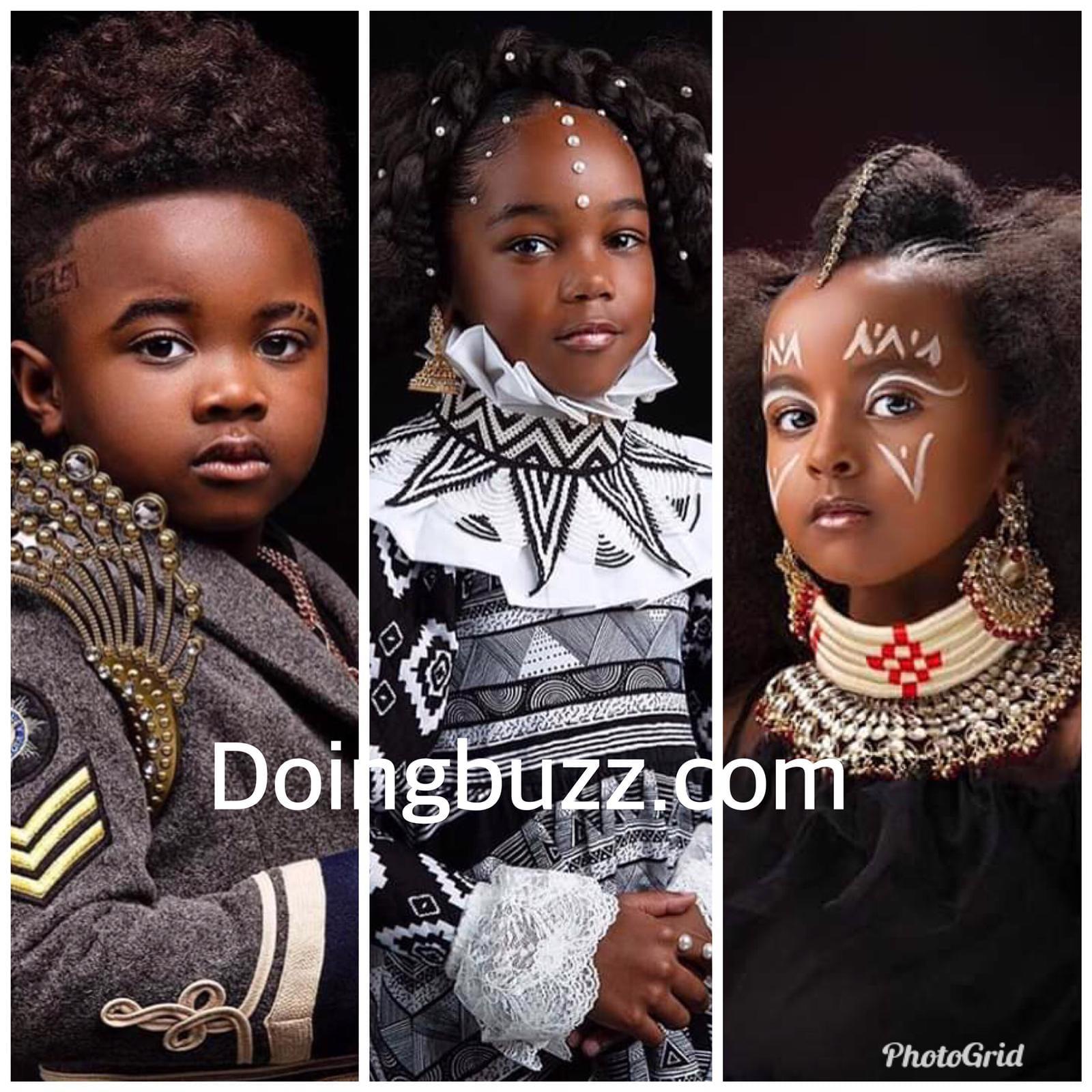 Vingt (20) photos d'enfants africains mannequins qui crèvent l'écran