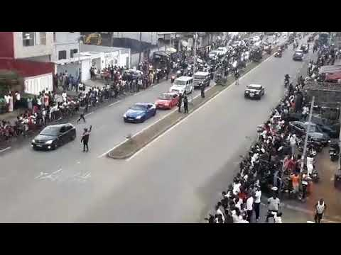 LA PARADE DES MOTARDS EN HOMMAGE À ARAFAT DJ [Direct Vidéo]