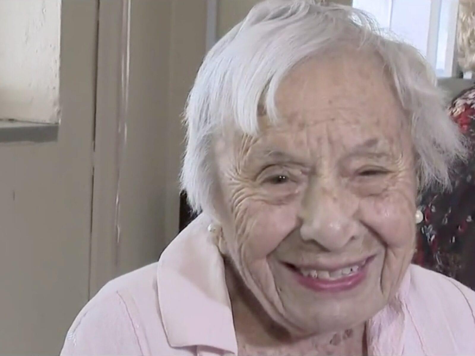 A 107 ans, elle explique sa longévité par son célibat