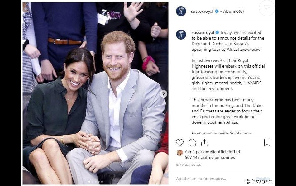 Le prince Harry et Meghan Markle seront en Afrique dans quelques semaines