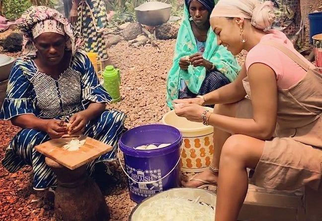 11 photos : Black M et sa femme Léa Djadja en vacances au Fouta (Guinée)