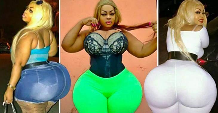 Cette Ivoirienne avec un postérieur d'une circonférence de 150 cm attire tous les regards quand elle sort de la maison.