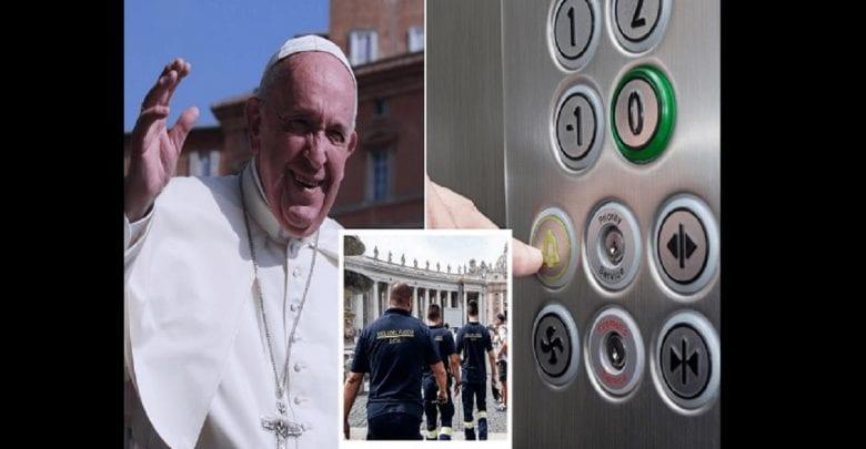 Coincé dans l'ascenseur du Vatican, le pape François sauvé par les pompiers