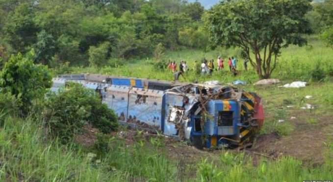 RDC : 50 personnes périssent dans le déraillement d'un train dans le sud-est du pays