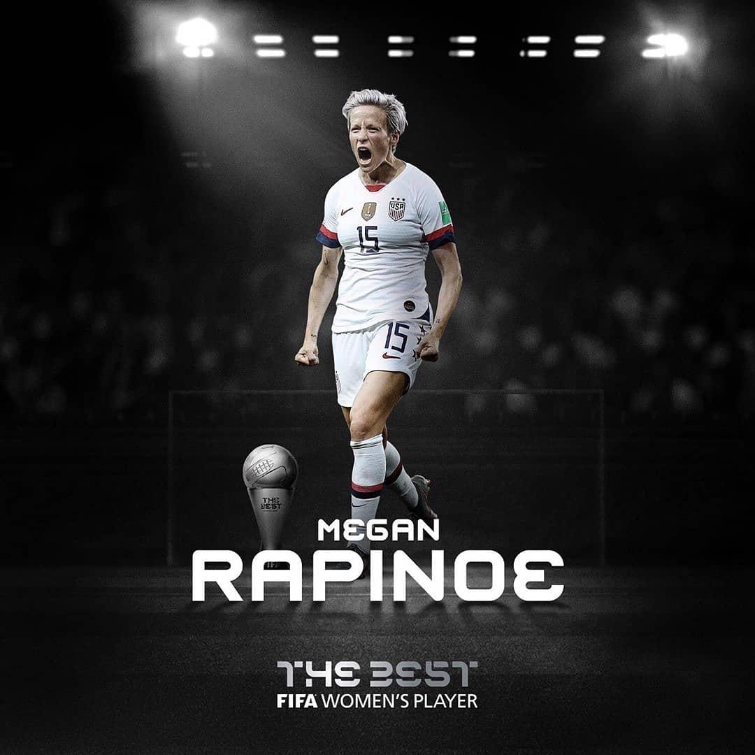 Lionel Messi et Megan Rapinoe primés au #TheBest Award de la FIFA pour 2019 | Liste complète des gagnants