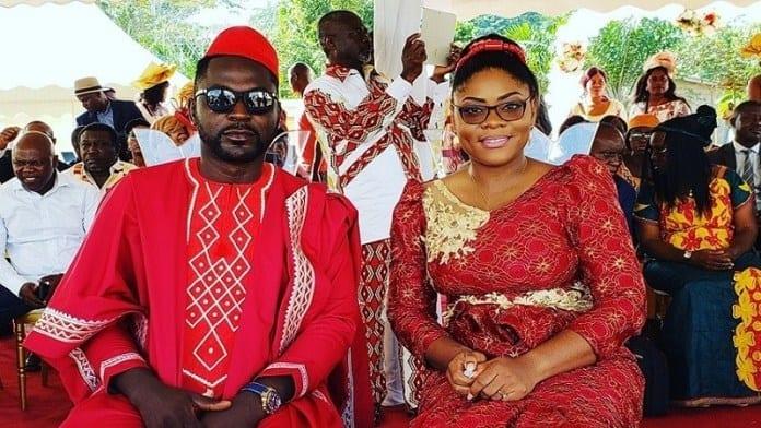 La chanteuse Sandrine Nnanga et le réalisateur Adah Akenji se sont mariés