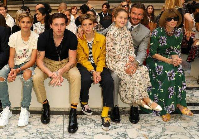 Fashion Week de Londres : les enfants de David Beckham créent le buzz