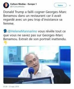 Donald Trump veut cogner un journaliste français qui fixait trop sa femme