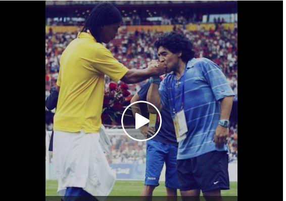 Vidéo – Le jour où Maradona a fait pleurer Ronaldinho