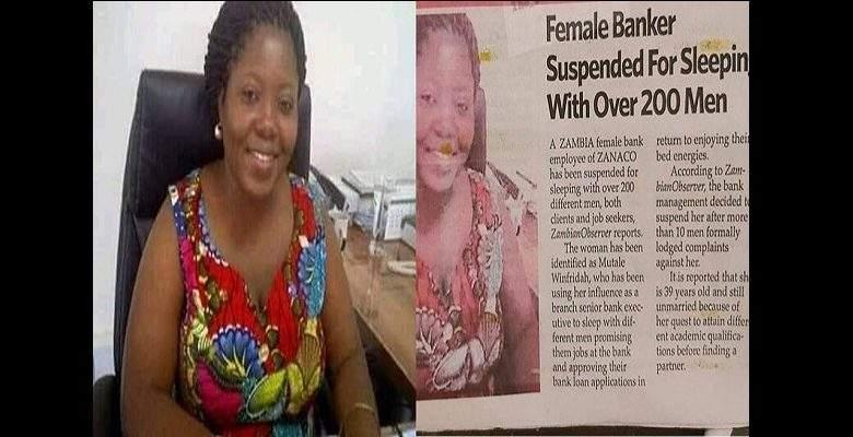 Zambie : Une banquière sanctionnée pour avoir couché avec plus de 200 hommes dont des clients