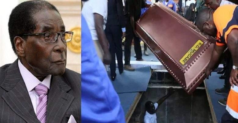 Zimbabwe: Robert Mugabe enterré dans un cercueil en acier recouvert de béton… la raison!
