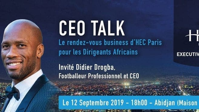 Du foot aux affaires, HEC Paris reçoit Didier Drogba, l'entrepreneur